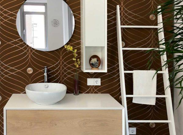 Waschplatz mit Aufsatzbecken